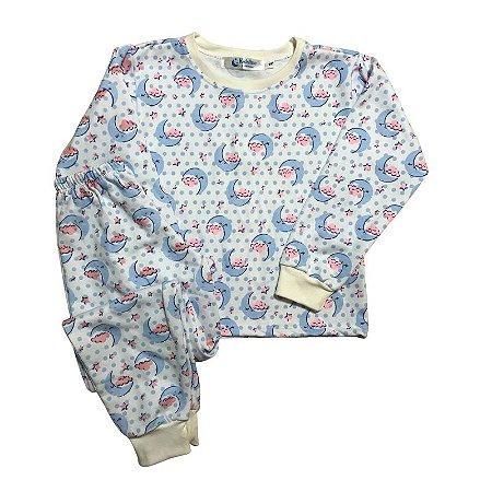 Pijama Flanela Punho MOON