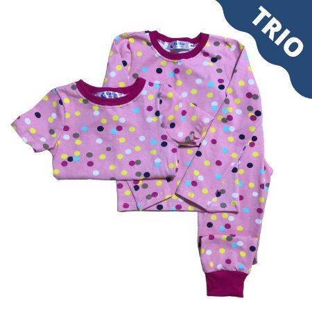 Pijama Infantil SLIM TRIO POÁ COLOR