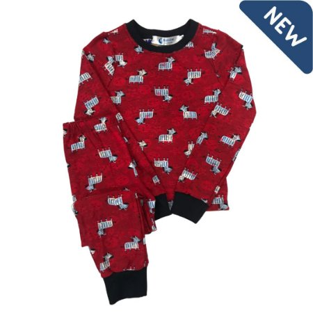 Pijama Infantil SLIM ZEBRAS VERMELHO