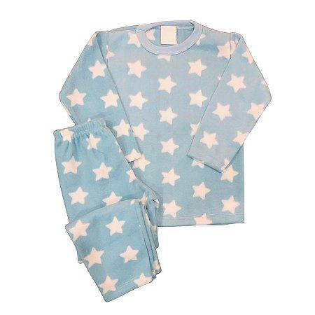 Pijama Infantil Soft ESTRELAS AZUL CLARO
