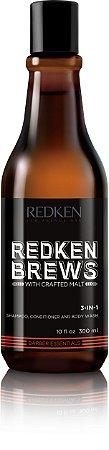 Redken Brews 3-In-1 - Shampoo Multifuncional 300ml