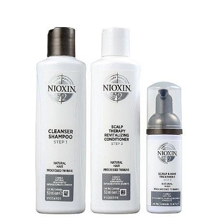 Kit Nioxin Trial Hair System 2 (3 Produtos)
