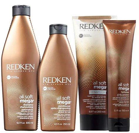 Kit Redken All Soft Mega Full (4 Produtos)