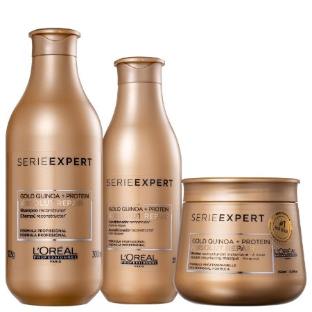 Kit L'Oréal Professionnel Serie Expert Absolut Repair Gold Quinoa + Protein Trio (3 Produtos)