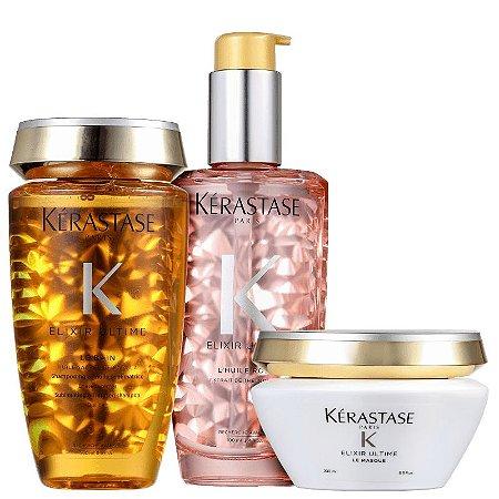 Kit Kérastase Elixir Ultime Masque Rose (3 Produtos)
