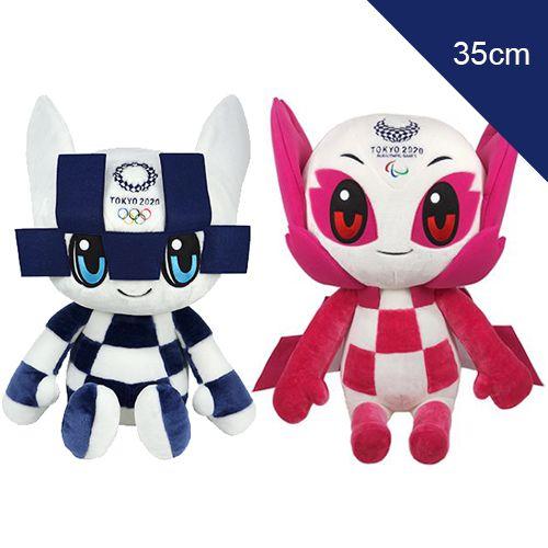 Mascotes das Olimpiadas 2021 Pelúcia 35cm