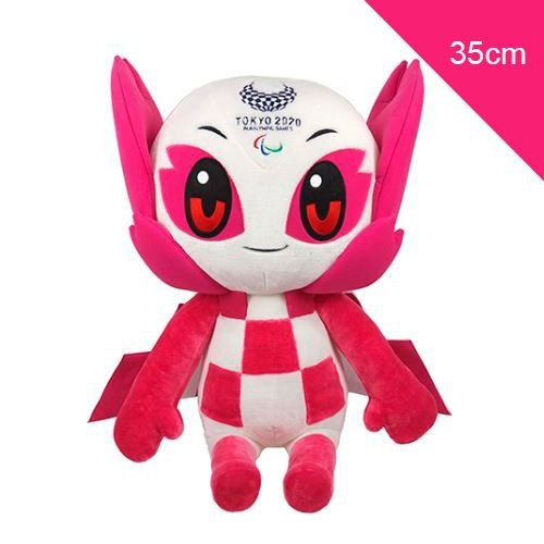 Mascote das Paralimpíadas 2021 Someity Pelúcia 35cm