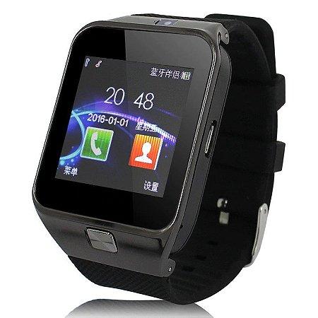 Relógio inteligente Smartwatch DZ09 Preto Touch