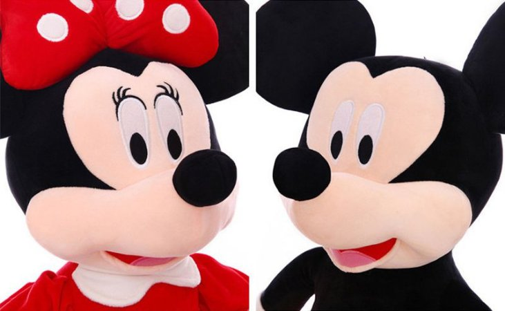 Mickey e Minnie de Pelúcia 40cm