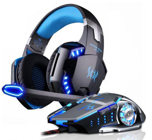 Kit Gamer Mouse e Headset Koner