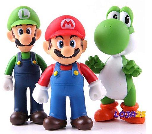 Boneco Mario e Luigi com Yoshi