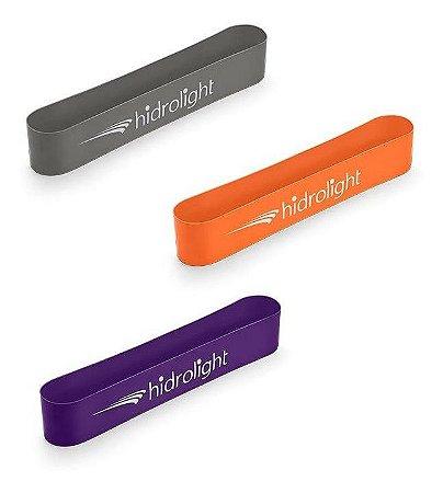 Kit 3 Mini Band Faixas Elásticas Tipo Thera Band Hidrolight