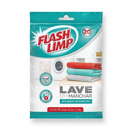 LAVE SEM MANCHAR 20 LENÇOS FLASH LIMP