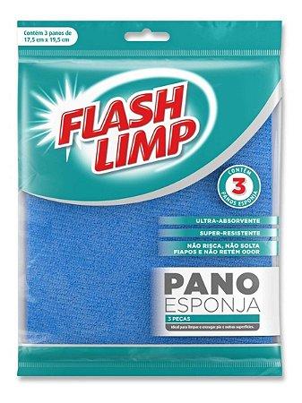 Pano Esponja 3 Peças Flash Limp