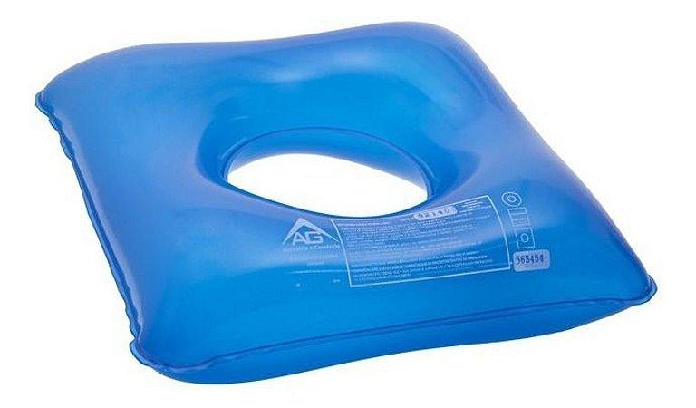 Almofada Ortopedica Anti Escaras Água Quadrada Com Orifício
