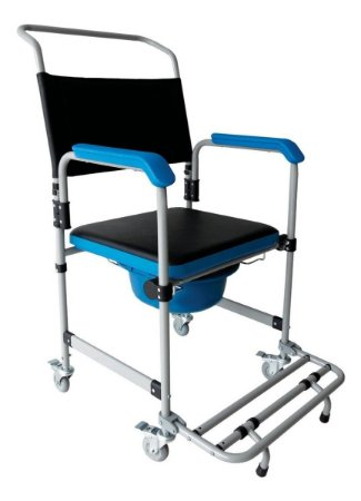 Cadeira De Banho Higienica Dobravel Aço 150kg Dellamed