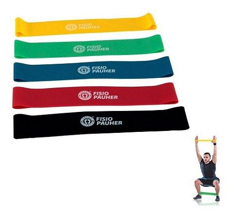 Mini Band Faixa Elastica Kit C/ 5 Resistencia Ortho Pauher