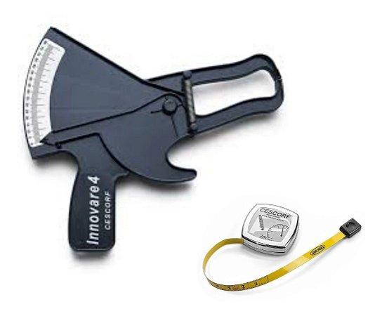 Adipômetro Plicômetro Clínico Innovare + Trena Aço Cescorf