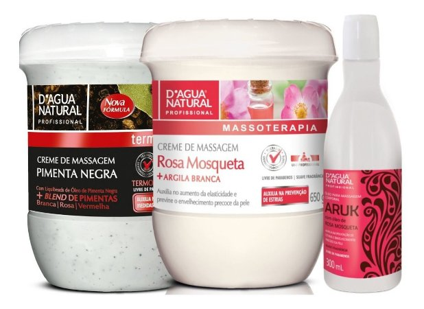 Creme Pimenta Negra + Creme Rosa Mosqueta + Oleo