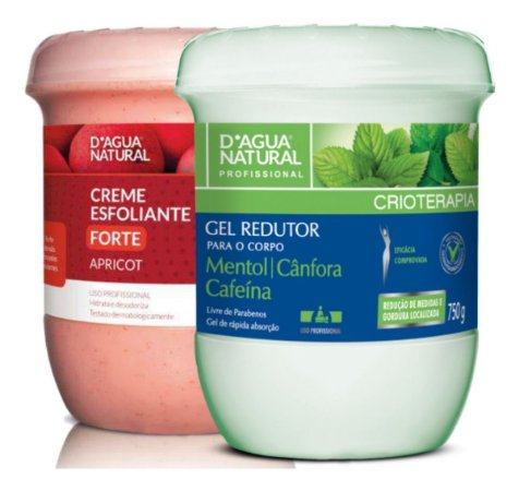Gel Redutor C/ Cafeina + Creme Esfoliante 650g Lipo Manual
