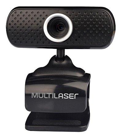 Webcam C/ Microfone 480p Usb Multilaser