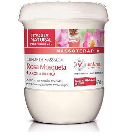 Creme Rosa Mosqueta C/ Argila Branca 650g D'agua Natural