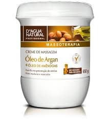 Creme De Massagem Óleo De Argan 650g D'Agua Natural