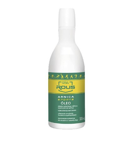 OLEO MASSAGEM ARNICA SPORTS 300ML - D AGUA NATURAL