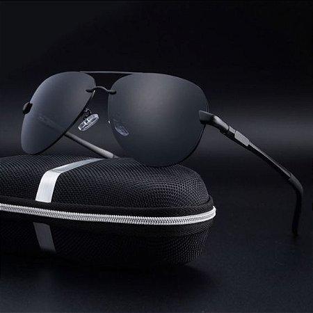 Óculos Aviador Escuro Polarizado Super Promoção Proteção UV ... df2c5358a5