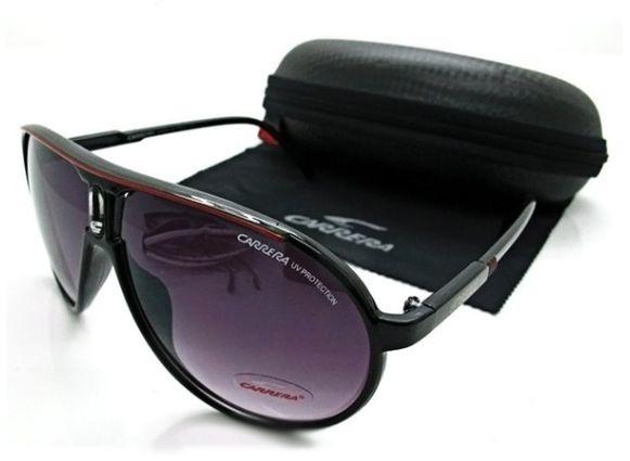 Óculos Carrera Escuro Proteção Uv Promoção Com Caixa E Pano De Limpeza  Modelo Aviador Com Super 1964a5e59b