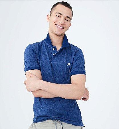 Camisa Polo Aeropostale Azul Escuro - Autenticshop loja virtual c6eccd2e837fe