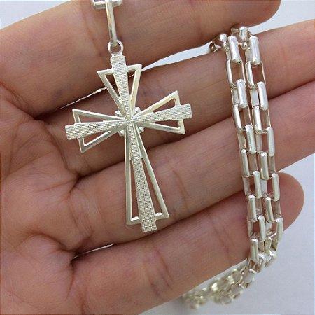 pingente cruz chapada 4808 - 3,5cm x 1,5cm