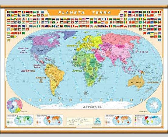 Mapa Mundi Planeta Terra
