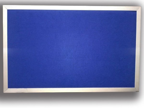Quadro de Aviso Simples - Feltro Azul