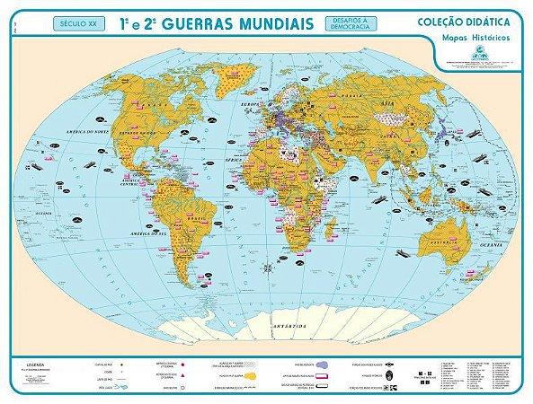 Mapa 1ª e 2ª Guerras Mundiais