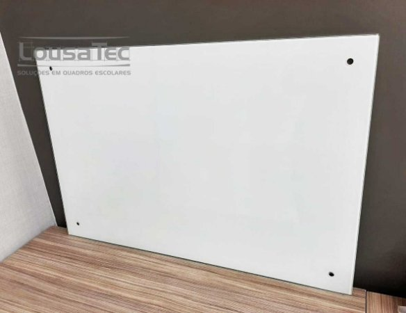 Quadro Branco Quadriculado de Vidro Temperado 6mm