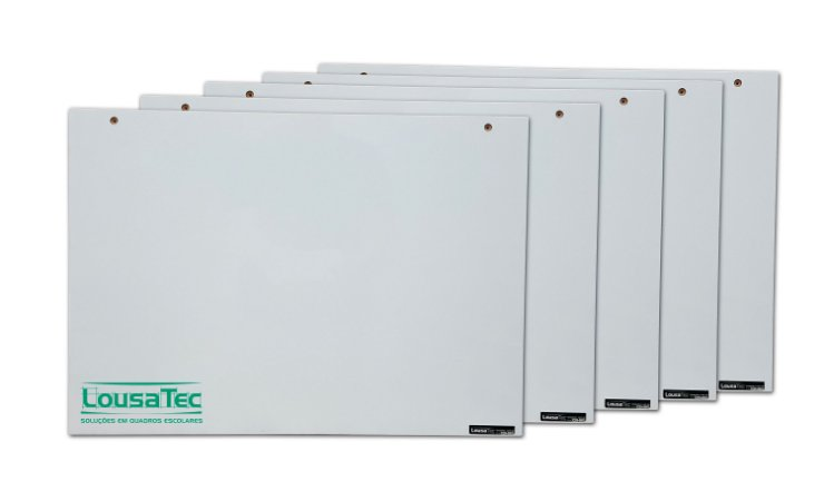 Kit Revenda Quadrinho Branco Liso Fitado - 5 Unidades