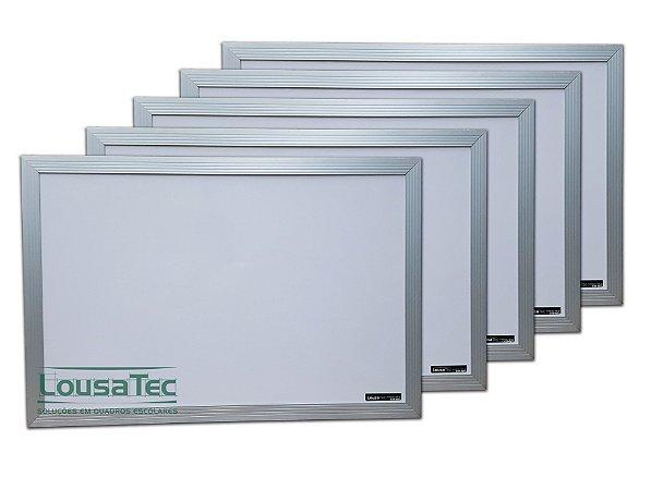Kit Revenda Quadrinho Branco Liso com Moldura de Alumínio - 5 Unidades