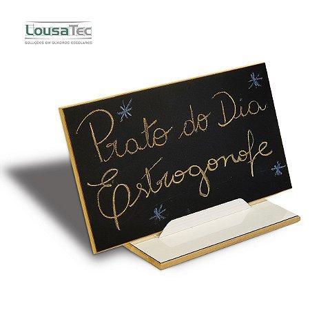 Placa de Mensagem Lousa LT - Preto p/ Giz