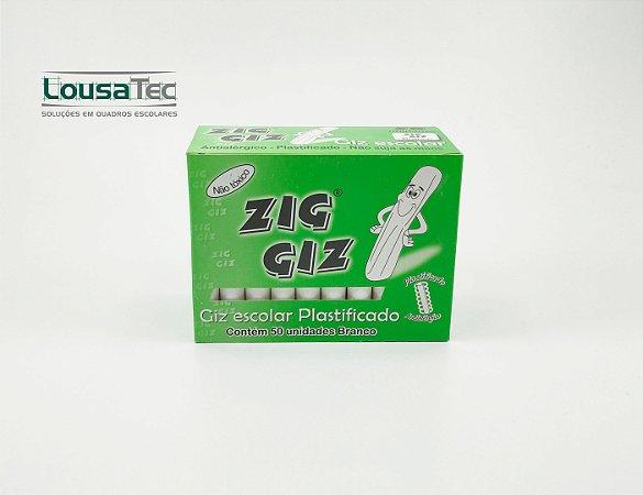 Giz Branco Plastificado c/ 50 palitos Zig