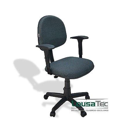 Cadeira Profissional p/ Escritório Ergonômica Estofada - SF1850 - Espuma Injetada 50mm - Rodízios e Braços Regulável