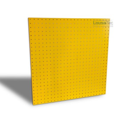 Painel Pegboard Amarelo - 60x60cm - C/ 06 Ganchos