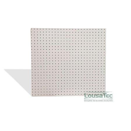 Painel Pegboard Branco - 60x60cm - C/ 06 Ganchos 10cm