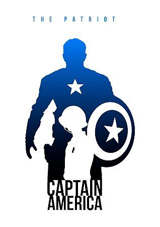 Quadro Decorativo Capitão América The Patriot - MV0001