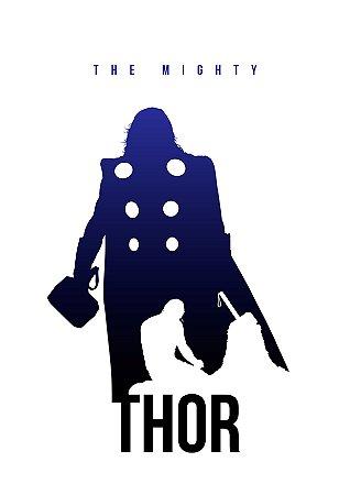 Quadro Decorativo Thor The Mighty  - MV0003
