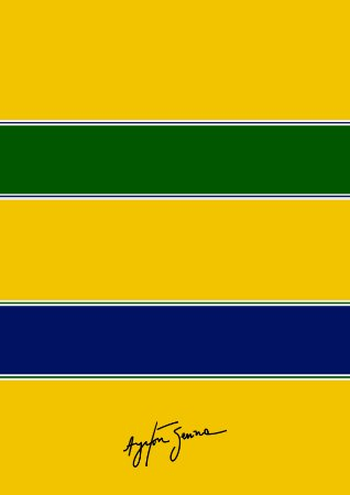 Quadro Decorativo Senna do Brasil - VC0001