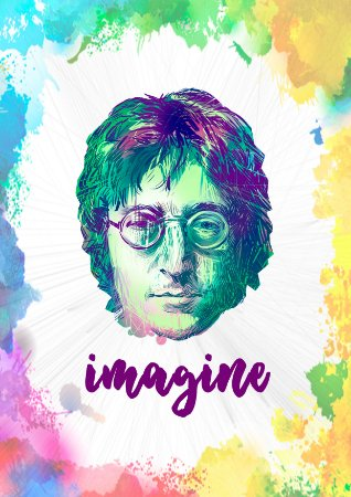 Quadro Decorativo Lennon - MS0003