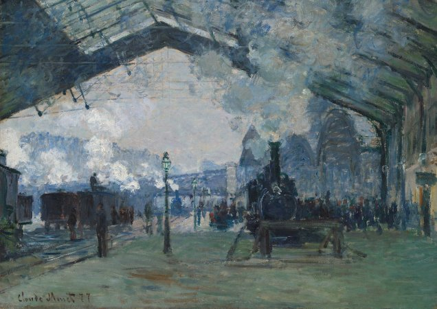 Quadro Decorativo Claude Monet Arrival of the Normandy Train, Gare Saint Lazare - PT0004