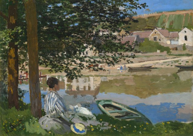 Quadro Decorativo Claude Monet On the Bank of the Seine - PT0005