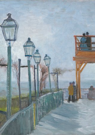 Quadro Decorativo Van Gogh Terrace and Observation Deck at the Moulin de Blute Fin - PT0009